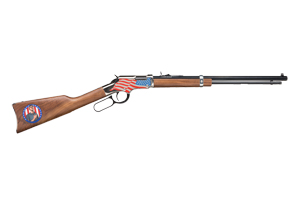 Henry Repeating Arms Rifle: Lever Action Golden Boy Stand For The Flag - Click to see Larger Image