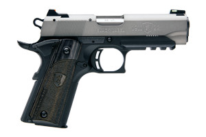Browning 1911-22 Black Label Gray Compact Rail Single Action 22LR Gray Anodized