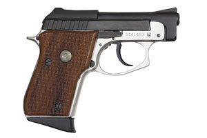 Taurus PT25 Double Action Only 25AP Two-Tone, Blue & Nickel