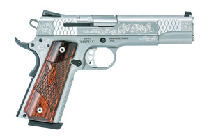 Smith & Wesson Pistol: Semi-Auto SW1911 Engraved - Click to see Larger Image