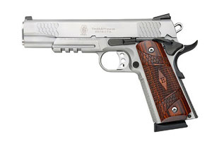 Smith & Wesson Pistol: Semi-Auto SW1911TA Enhanced E Series Tactical Acc Rail - Click to see Larger Image