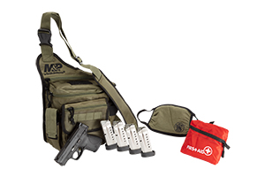 Smith & Wesson Pistol: Semi-Auto M&P Shield Bug Out Bag Bundle - Click to see Larger Image