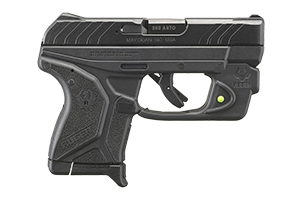 Ruger Pistol: Semi-Auto LCPII with Viridian E-Series Green Laser - Click to see Larger Image
