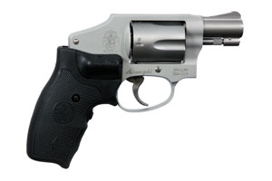 Smith & Wesson Revolver: Double Action Only Model 642 - with Crimson Trace Grips - Click to see Larger Image