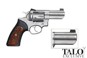 Ruger GP100 WCGP Talo Edition Double Action 357 Hawkeye Matte Stainless Steel