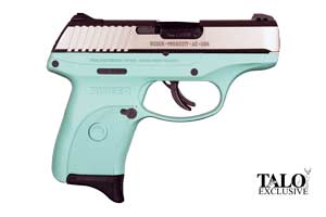 Ruger Pistol: Semi-Auto LC9s Nickel Turquoise TALO Special Edition - Click to see Larger Image
