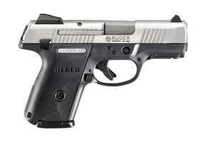 Ruger SR9C Compact Model KSR9C-10-L Double Action Only (Striker Fire Action) 9MM Brushed Stainless Slide