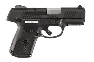 Ruger SR9C Compact Model BSR9C-10-L Double Action Only (Striker Fire Action) 9MM Nitrodox Pro Black / Alloy Steel