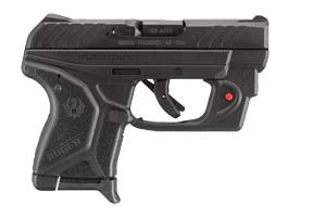 Ruger Pistol: Semi-Auto LCPII with Viridian E-Series Red Laser - Click to see Larger Image
