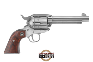 Ruger New Vaquero Convertible Cylinder Single Action 45LC|45AP High-Gloss Stainless Steel
