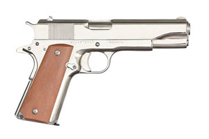 Armscor|Rock Island Armory Pistol: Semi-Auto M1911-A1 GI Standard FS Nickel - Click to see Larger Image