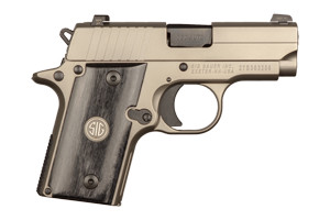 Sig Sauer Pistol: Semi-Auto P238 HD Nickel (Heavy Duty) Microcompact - Click to see Larger Image