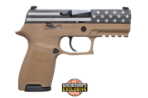 Sig Sauer Pistol: Semi-Auto P320 Engraved (Flag W/ Stars Slide) - Click to see Larger Image