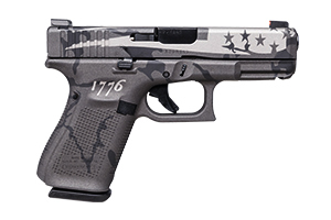 Glock Pistol: Semi-Auto Gen 5 19 USA Black & Gray Camo Flag - Click to see Larger Image