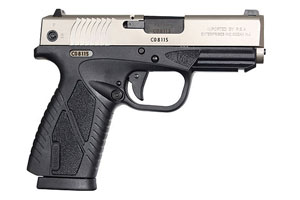 Bersa BP9CC Polymer Series Double Action 9MM Two-Tone Brushed Chrome Frame