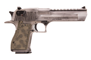 Magnum Research Apocalyptic Desert Eagle Mark XIX Single Action 50AE White Matte Distressed Cerakote