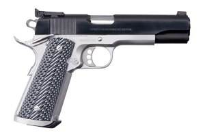 Colt 1911 Special Combat Government Single Action 38SUP Blue, Satin Nickel