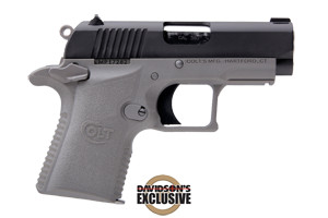Colt Pistol: Semi-Auto Mustang XSP Gray Davidson's Exclusive - Click to see Larger Image