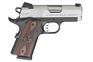 Springfield Armory 1911 EMP (Enhanced Micro Pistol) Single Action 40SW Matte Blue Frame, Stainless Steel Slide