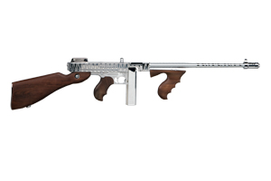 Kahr Arms|Thompson Rifle: Semi-Auto Thompson 1927A-1 Deluxe Chrome Tiger STripe - Click to see Larger Image