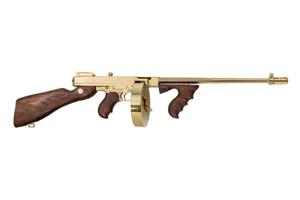 Kahr Arms|Thompson Rifle: Semi-Auto Thompson 1927A-1 Deluxe Titanium Gold - Click to see Larger Image