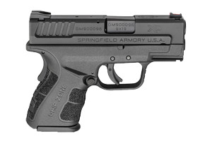 Springfield Armory X-Treme Duty Sub Compact Mod2 With Gripzone Double Action Only (USA Action Trigger System) 9MM Black, Forged Steel, Melonite Finish On Slide