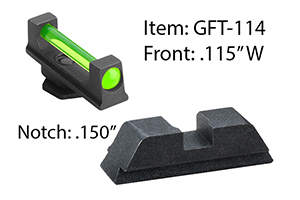 Ameriglo  Glock Fiber Combination Sets - Click to see Larger Image