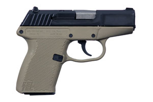Kel-Tec P-11 Double Action Only 9MM Blue Slide With Tan Cerakote Frame