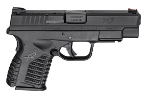 Springfield Armory XD-S Double Action Only (USA Trigger System) 9MM Black Melonite Finish Slide
